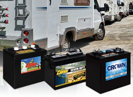 Buy Crown Heavy Duty Deep Cycle Batteries from Battery Life, Auckland, New Zealand